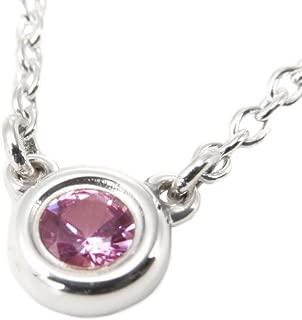 [蒂芙尼] TIFFANY 粉红色蓝宝石 0.08ct 纯银 艾尔莎柏瑞蒂 颜色按码 吊坠・项链 25390474