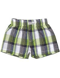 Itty Bitty & Handsome - 6-12 个月绿色格子婴儿短裤