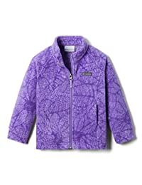 Columbia 女童 Benton Springs Ii 印花抓绒衫 Paisley Purple Flowers X-Large