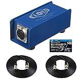Cloud Microphones Cloudlifter CL-1 麦克风激活器 + 两 (2) XLR 电缆套装