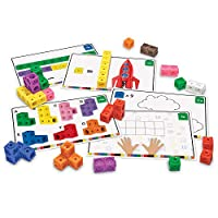 Learning Resources 早期数学连接魔方活动套装 各种颜色 115片 4岁以上