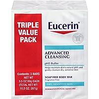 Eucerin 高级洁面无皂身体皂,3件装