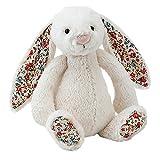 Jellycat 毛绒玩偶 BASHFUL害羞系列之碎花邦尼兔 碎花米色中号高31cm