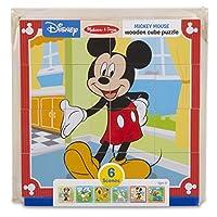 Melissa & Doug 迪士尼米老鼠木制方块拼图