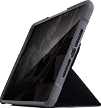 STM Bags Dux Case Folio 保護套適用于蘋果 Mini 5 (2019) & Mini 4 - 黑色/透明 [*標準i透明背面防水i 支架功能 i 喚醒/*] - STM-222-160GY-01