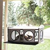 "K&H Pet Products EZ Mount Penthouse 灰色/黑色 19"" x 23"" x 9.5.5"" Kitty Sill"