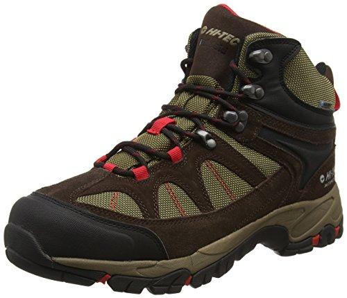 Hi-Tec Men's Altitude Lite I Waterproof High Rise Hiking Shoes Brown (Chocolate/Desert/Lingon 054) 12 UK