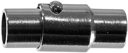 西海岸跳伞绳锁定磁扣 - 4 毫米 - 用于珠宝制作和人造革 - 黄铜饰面 铑 2组 2 X LCKNGMGNTCLSP-4MMRHDM-~WCP_AK