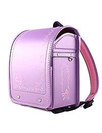 Coulomb 谷村鞄 幼儿园女孩背包 日式书包 硬式箱体 高档皮面印花双肩包礼品 轻量可爱 日本同步热卖 神秘紫