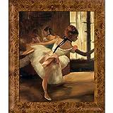 overstockArt 重复舞蹈(细节)Edgar Degas 带框手绘油画复制品