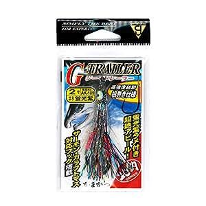 伽玛依(Gamakatsu) G-TRAILER 2寸 AK109 荧光紫 #8. 67649-8-0-07 有线接口/性别适配器