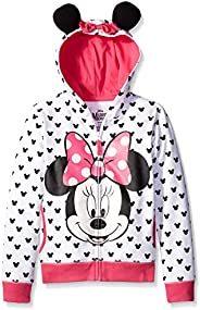 Disney迪士尼 女童米妮连帽衫带蝴蝶结和耳朵