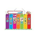 Monkey & Chops 每周活动规划器 - 挂在墙上的磁性板