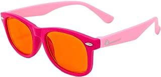 儿童蓝光屏蔽眼镜,适用于电脑、移动、视频游戏、由 DefenderShield 设计 - 99% 阻挡