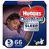 Huggies Overnites Diapers, Size 5, 66 Count