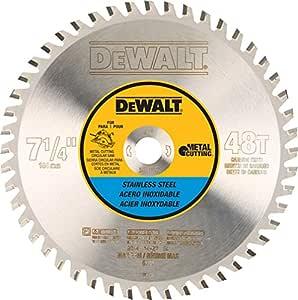 DEWALT 48 齿不锈钢金属切割 5/8 英寸手臂 7-1/4-Inch DWA7748