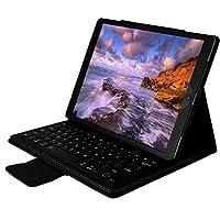 ikodoo爱酷多 无线键盘 适合苹果iPad Pro 10.5英寸平板电脑 无线蓝牙键盘 保护套 仿牛皮支架式皮套 剪角按键机械键盘 蓝牙3.0无线距离10米 (ipad pro 10.5英寸, 黑色)