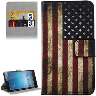 alsatek 封面美国国旗设计 PU 皮套适用于小米红米 Note 2 红色