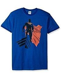 Trevco Men's Superman Man of Steel the Watcher Ringer T-Shirt