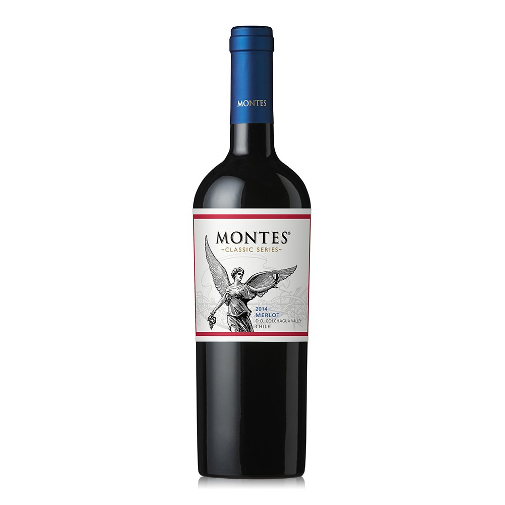 Montes 蒙特斯 经典赤霞珠红葡萄酒整箱装 750ml*6瓶
