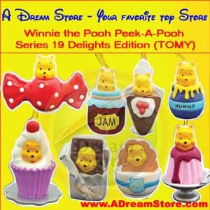 Winnie the Pooh Peek-a-pooh #19 Delights Series Collection From TOMY