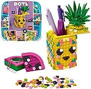 LEGO 41906 DOTS 菠萝铅笔筒 DIY 桌面配件装饰套装,儿童艺术和工艺品