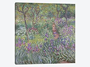 iCanvasART 1 件 The Artist's Garden in Giverny 1900 油画印刷品,克劳德·莫奈,30.48 cm x 30.48 cm/1.91 cm 深 0.75 by 37 by 37-Inch BMN4364