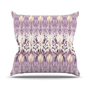 Kess InHouse Suzanne Carter Laurel85 室内/室外抱枕 18 x 18 英寸(长x宽) 紫色 SC2022AOP03