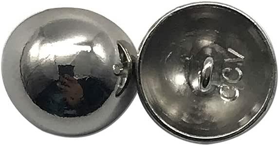 一套 20 个经典古铜圆顶纽扣,蘑菇半球形纽扣缝纫衬板 银色 Q1806