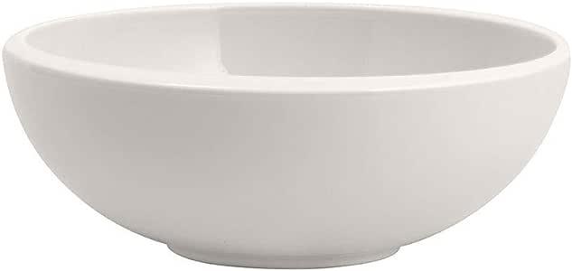 Villeroy & Boch 10-4264-1900 NewMoon BOL 现代碗,适用于麦片、汤、沙拉或甜点,由优质瓷器制成,可用洗碗机清洗,白色,750毫升,瓷器