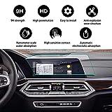 YEE PIN 汽车内部配件导航显示钢化玻璃屏幕保护膜,适用于 2019 X5 12.3 英寸显示屏膜,防刮防爆触摸灵敏度