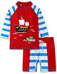 Vaenait 婴儿 2T-7T 男童*衣泳衣泳衣套装 幼儿