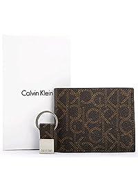 Calvin Klein 卡尔文·克莱恩 新款ck钱包男士短款两折 时尚印花钱包带钥匙扣钱夹 美国直邮 【亚马逊海外卖家】