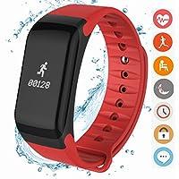 coolfoxx 健身追踪器腕带 cm02智能手环测量**氧气和*监测 STEP 防水运动健康手表 Android iphone