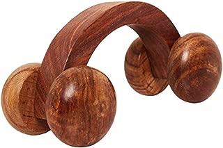 大号圣诞礼物木制汽车形状按摩器/按摩*工具/按摩器缓解*和压力,复活节礼物 6 英寸,棕色
