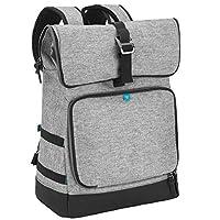 Babymoov Sancy 尿布包背包中性款背包,配有重负荷顶部卷扣,大隔热隔层,尿布垫和配件 灰色