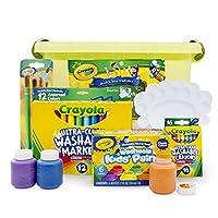 Crayola 绘儿乐 水彩笔颜料蜡笔套组 经典可水洗6件套(可水洗颜料+蜡笔+水彩+画刷+调色板+收纳桶)