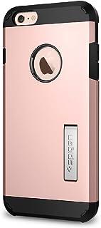Spigen Tough Armor iPhone6S Plus/6Plus手机壳 美国军人用认证 防摔外壳 支架盔甲保护套手机套5.5寸欧美风格 防滑潮 时尚创意 炫酷装 玫瑰金 SGP11750