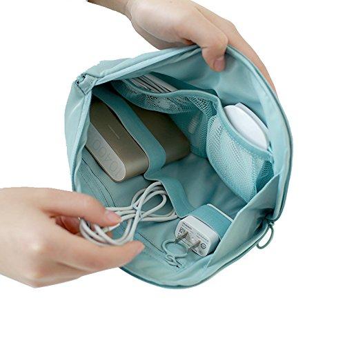 Nefele NAPHELEトラベル収納袋電子デジタル収納袋携帯電話充電宝データケーブル収納整理TB40(レイクブルー)