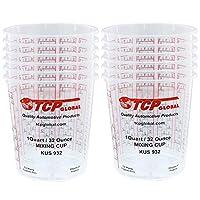 Custom Shop 12 件装,每包 907.18 克涂料混合杯,杯子侧带有校准的混合比率 32 Ounces 932-12