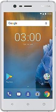 Nokia 3 - Android 9.0 Pie - 16 GB - 解锁智能手机(AT&T/T-Mobile/MetroPCS/Cricket/Mint)TA-1038 Dual SIM Dual-SIM 白色