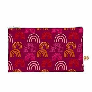 """KESS InHouse Jane Smith""""It's All Rainbow""""洋红色橙色物品包,20.96 厘米 x 10.16 厘米(JS1044AEP03)"""