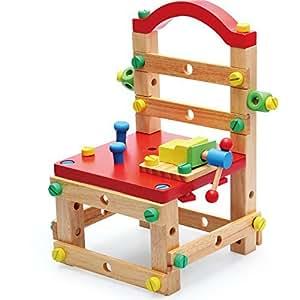 鲁班工具椅玩具 榉木智慧工作椅 DIY动手拆装组合玩具 多功能创意工作椅子 (鲁班工具椅)