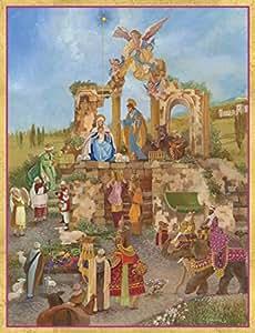 娱乐活动与 caspari adoration OF THE MAGI 圣诞卡片,一盒16 Creche Scene