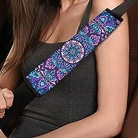 Deeprinter 曼陀罗花朵汽车*带垫套汽车*带舒适肩垫适用于成人、儿童通用款