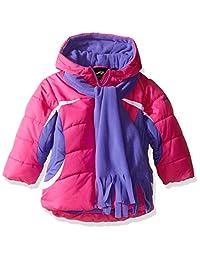 Pacific Trail 女童拼色夹克,带围巾