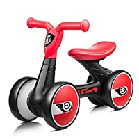 FERSOAR F 烽索 LUDDY系列 儿童平衡车1-3岁三轮滑行学步车溜溜车 LD-1006-B 黑红(亚马逊自营商品, 由供应商配送)