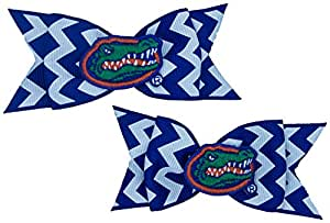 NCAA 佛罗里达鳄鱼锯齿形蝴蝶结一对