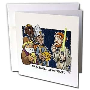 Rich diesslins 卡通 DAYS OF 圣诞 tcdc–Tim Ellis 卡通关于圣诞 MAGI 和星球大战绝地–贺卡