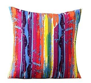 Gift Craft 聚酯纤维摇滚条纹枕头,45.72 x 45.72 厘米